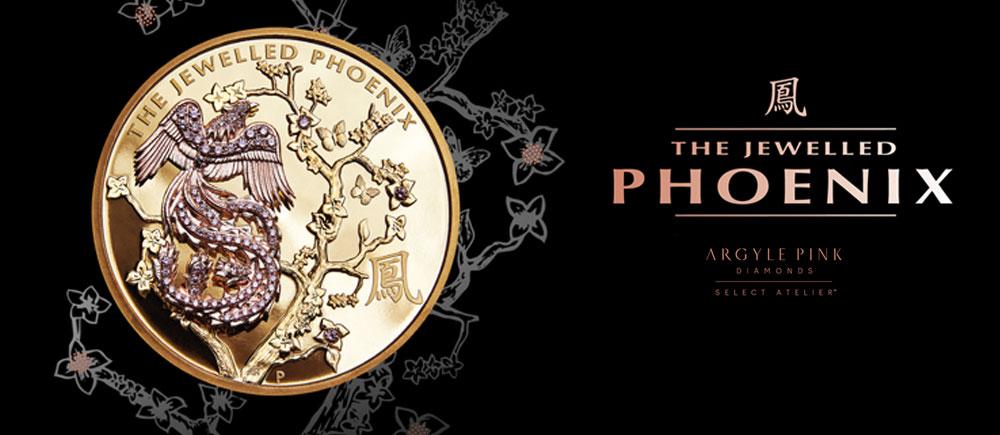 The Jewelled Phoenix – Rare pink diamond coin